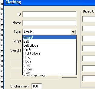 Setting up new clothing or armour | Calislahn com